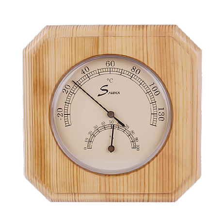Household Sauna Wooden Thermometer