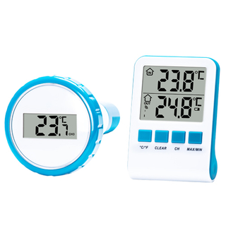 Wireless Digital Swimming Pool Thermometer With Outdoor Remote Transmitter