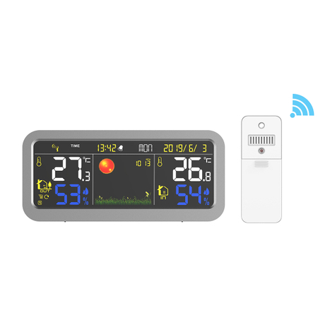 Wireless Color Weather Station with USB Charging