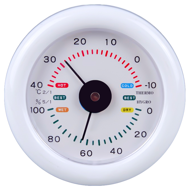 IN/OUT DOOR Bimetal Thermometer & Hygrometer