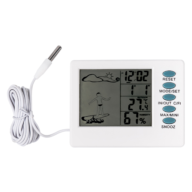In/Outdoor Digital Thermo-Hygrometer&Clock