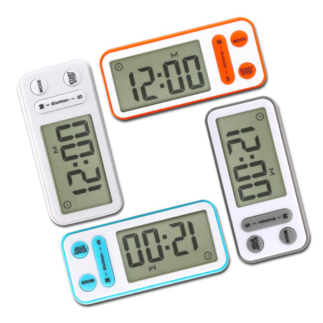Digital Kitchen Cooking Timer with Large Screen, Loud Alarm, Magnetic Backing, Table Standing, Wall Hanging Hole