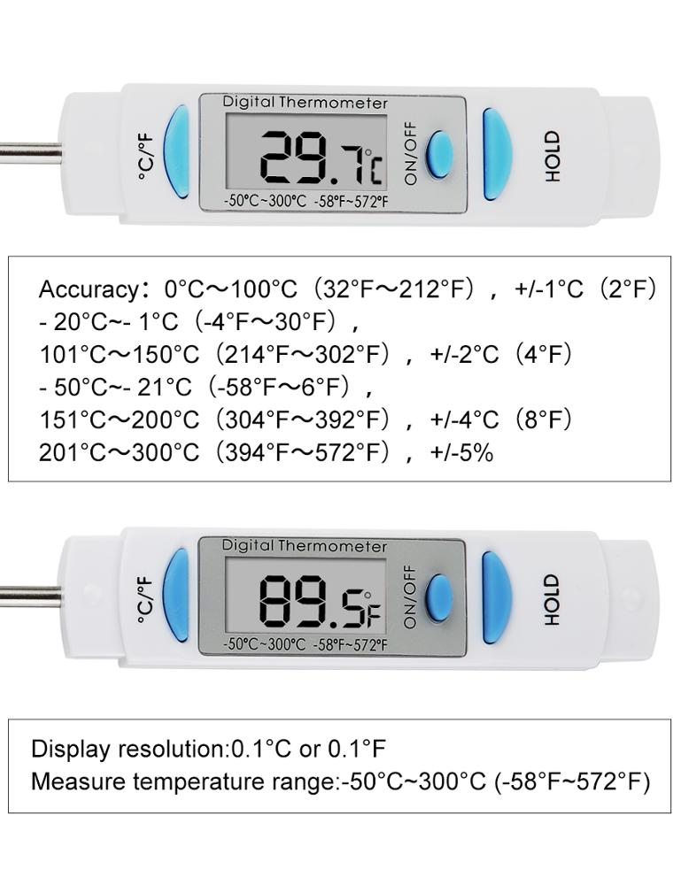 Digital Instant Read Cooking thermometer for Kitchen BBQ Grill Smoker