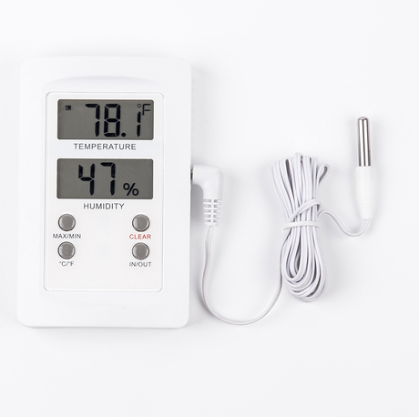 Digital Thermometer And Hygrometer With Sensor